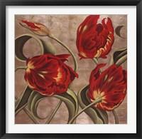Framed Scarlet Arabesque