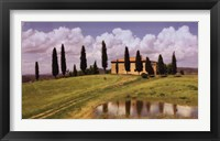 Framed Tuscan Hillside #5