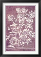 Floral Tapestry III Framed Print