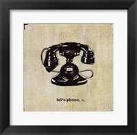 Office Telephone Framed Print
