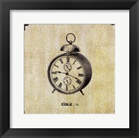 Office Clock Framed Print