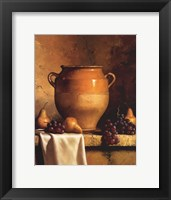 Confit Jar with Pears and Grapes Framed Print