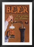 Framed Beer...It's What's For Dinner