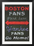 Framed Yankee Fans Go Home
