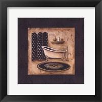 Bath Time I Framed Print