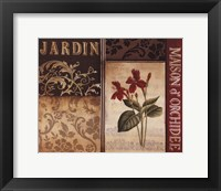 Framed Belle Jardin I