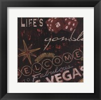 Life's A Gamble Framed Print