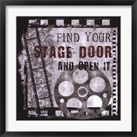 Framed Stage Door
