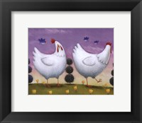 Framed Funky Chickens