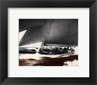 Framed Mariner's Museum - Rainbow's Run 1934 Vintage Maritime