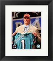 Framed Jake Long 2008 Draft Day - NFL Draft # 1 Pick