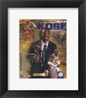 Framed Kobe Bryant 2008 MVP Portrait Plus; LA Lakers