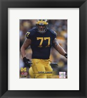 Framed Jake Long University of Michigan Wolverines; 2007 Action