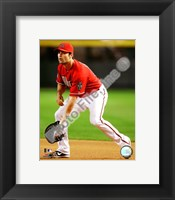 Framed Conor Jackson 2008 Fielding Action