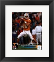 Framed Peyton Manning University of Tennessee Volunteers Action