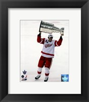 Framed Pavel Datsyuk with the Stanley Cup, Game 6 of the 2008 NHL Stanley Cup Finals; #29