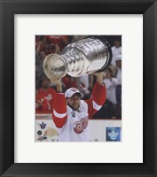 Framed Brian Rafalski with the Stanley Cup, Game 6 of the 2008 NHL Stanley Cup Finals; #32