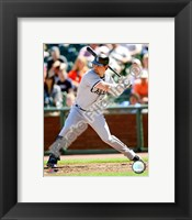 Framed Nick Swisher 2008 Batting Action
