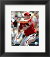 Framed Brandon Webb 2008 Pitching Action