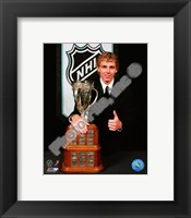 Framed Patrick Kane with the 2008 Calder Memorial Trophy