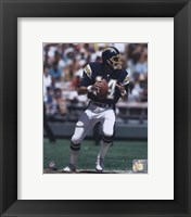 Framed Dan Fouts Dropping Back Action