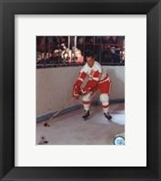 Framed Gordie Howe - Skating with puck