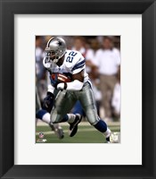 Framed Emmitt Smith 2002 Rushing Action