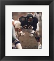 Framed Mike Singletary Defensive Stance