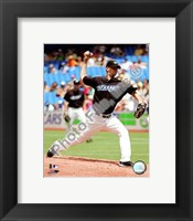 Framed A.J. Burnett 2008 Pitching Action