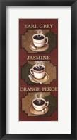 Tea Triptych Framed Print