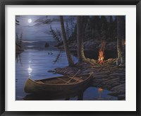 Framed Camp Fire Canoe