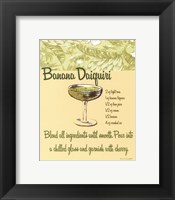 Framed Banana Daiquiri