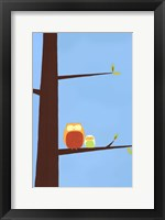 Tree-top Owls I Framed Print