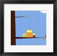 Tree-top Owls III Framed Print
