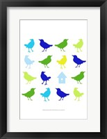 Animal Sudoku in Blue I Framed Print