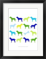 Animal Sudoku in Blue III Framed Print