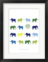 Framed Animal Sudoku in Blue IV