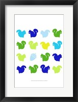 Animal Sudoku in Blue VI Framed Print