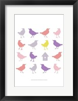 Animal Sudoku in Pink I Framed Print