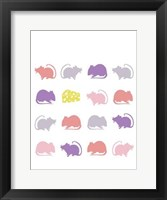 Animal Sudoku in Pink V Framed Print