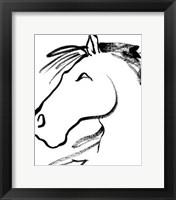 Framed Equine Profile I