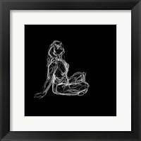 Framed Figure Study on Black II