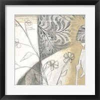 Neutral Garden Abstract II Framed Print