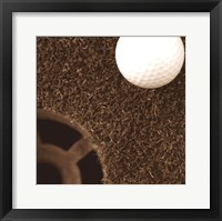 Sepia Golf Ball Study II Framed Print