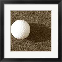 Framed Sepia Golf Ball Study III