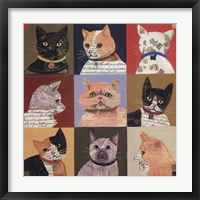 Nine Lives Framed Print
