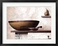 Bowl and Pear Framed Print