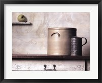 Framed Crock and Apple