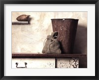 Pail with Yam Framed Print