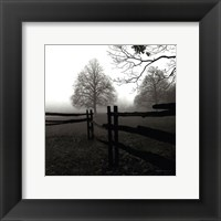 Framed Fence in the Mist
